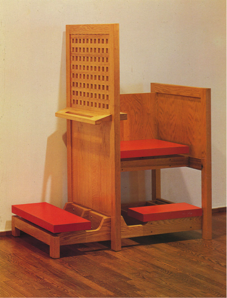 A rather cool aesthetic: Richard Artschwager's 1980 design for a modern confessional, on display at the Saatchi Gallery, London.