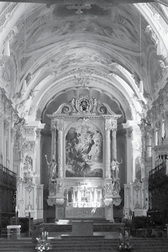 The interior of the Cathedral of St. Mary and St. Korbinian in Freising, Bavaria.