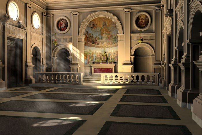 Proposed design for a perpetual adoration chapel, St. Agnes Church, New York City.