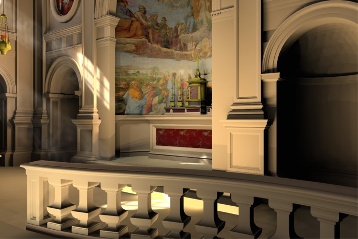 Proposed design for a perpetual adoration chapel, St. Agnes Church, New York City. The Sanctuary.